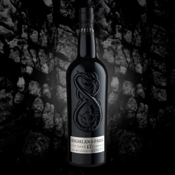 Whisky bottle design - Highland Park - The Dark - Rock Face Art Direction