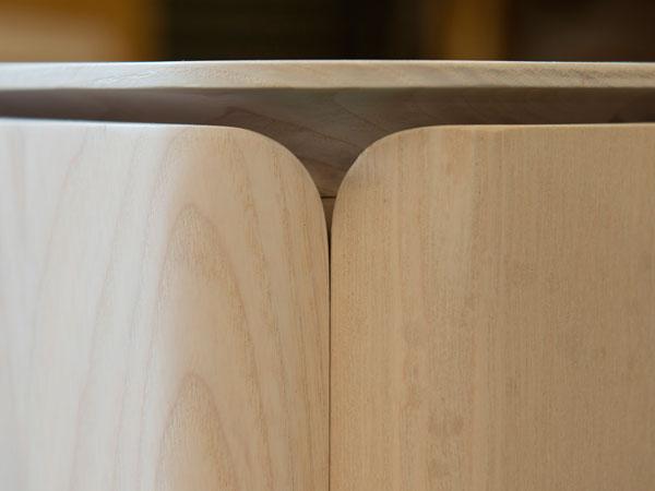 V&A Dundee Cabinet Corner Detail designed by Scott Jarvie