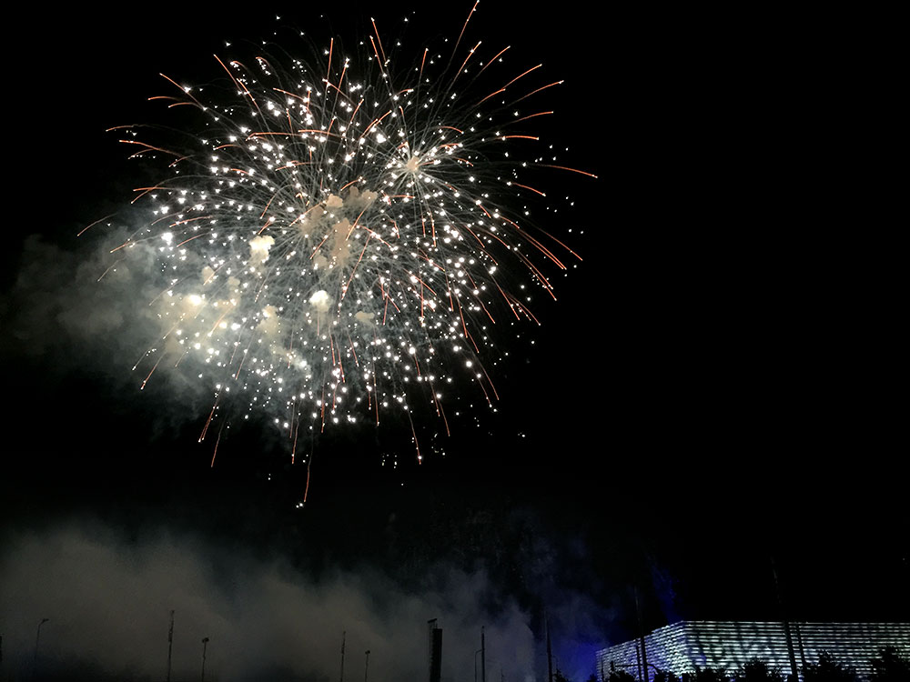 V&A Dundee opening fireworks